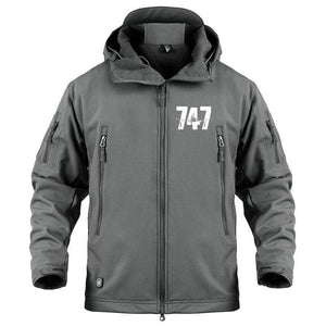 AIRPLANE LOVER Military Fleece Gray / S Boeing 747 Jacket
