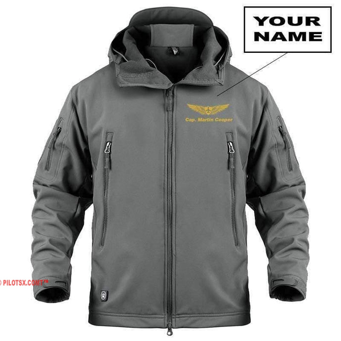 AIRPLANE LOVER Military Fleece Gray / S Custom Military Fleece Warm Tactical Jacket
