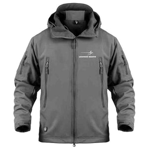 AIRPLANE LOVER Military Fleece Gray / S Military Fleece Warm Tactical LOCKHEED MARTINE Jacket