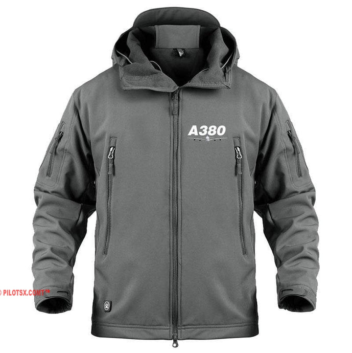 AIRPLANE LOVER Military Fleece Gray / S New Airbus- A380