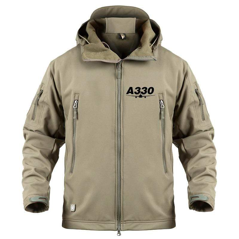 AIRPLANE LOVER Military Fleece Khaki / S Airbus A330