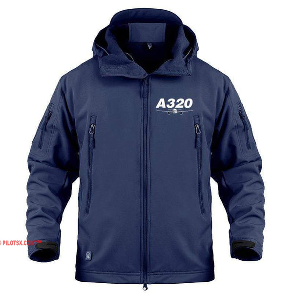 AIRPLANE LOVER Military Fleece Navy / S Airbus A320