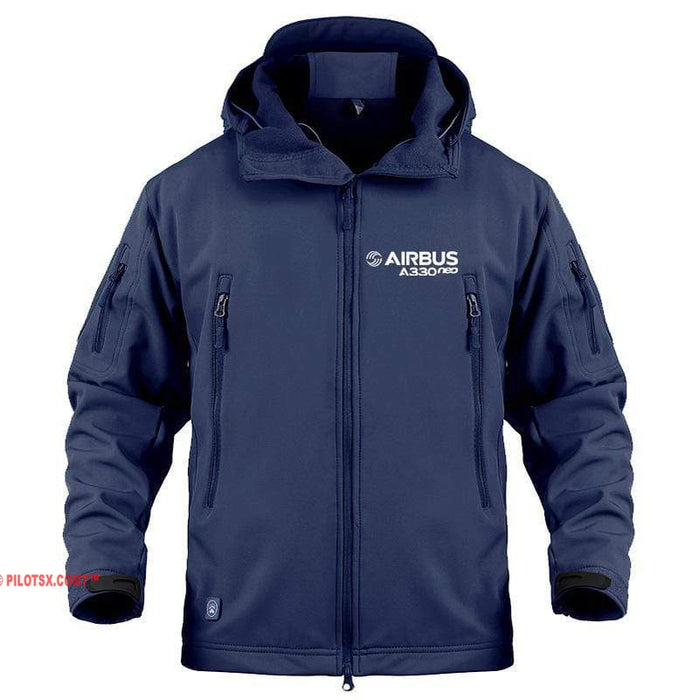 AIRPLANE LOVER Military Fleece Navy / S Airbus A330 neo