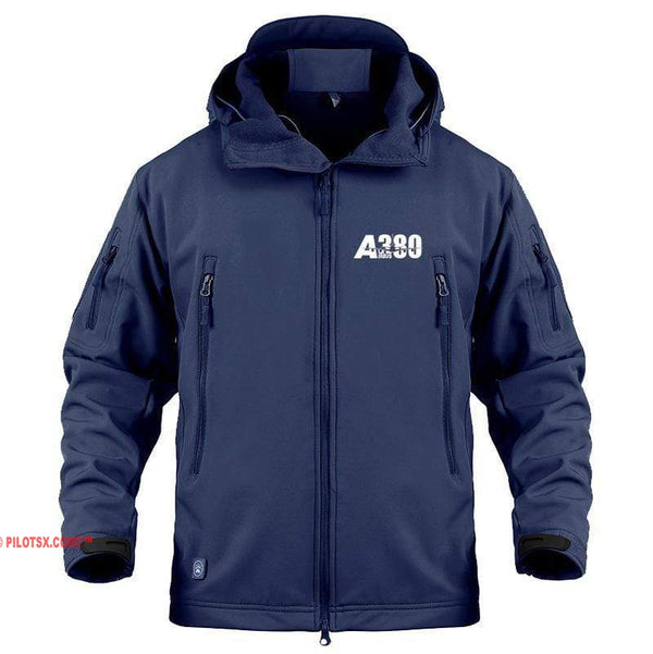 AIRPLANE LOVER Military Fleece Navy / S Airbus A380