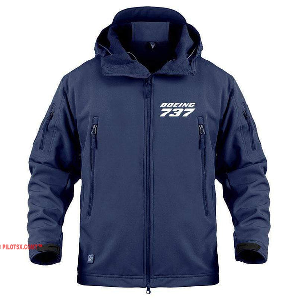 AIRPLANE LOVER Military Fleece Navy / S Boeing 737 Jacket