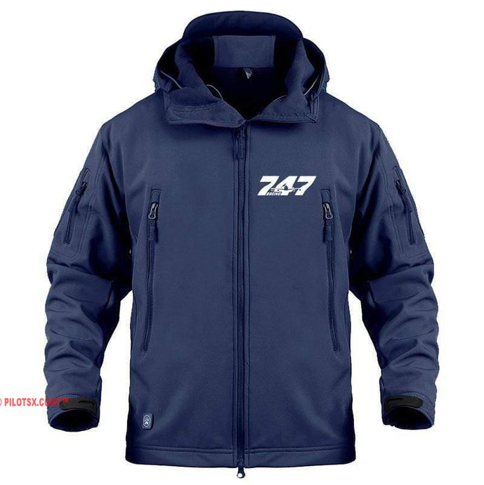 AIRPLANE LOVER Military Fleece Navy / S Boeing 747 Jacket