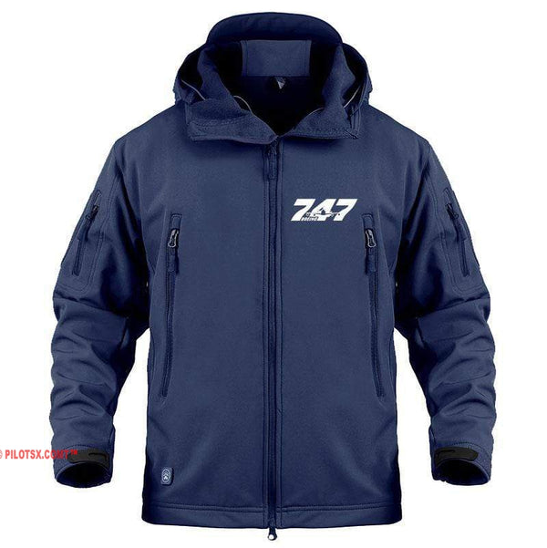 AIRPLANE LOVER Military Fleece Navy / S Boeing-747 Jacket
