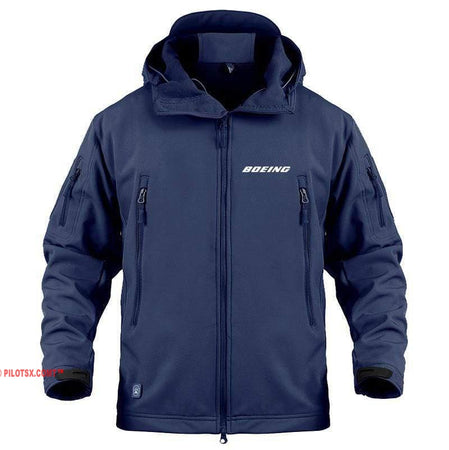 AIRPLANE LOVER Military Fleece Navy / S Boeing Jacket