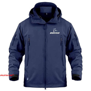 AIRPLANE LOVER Military Fleece Navy / S Military Fleece Warm Tactical Boeing Jacket
