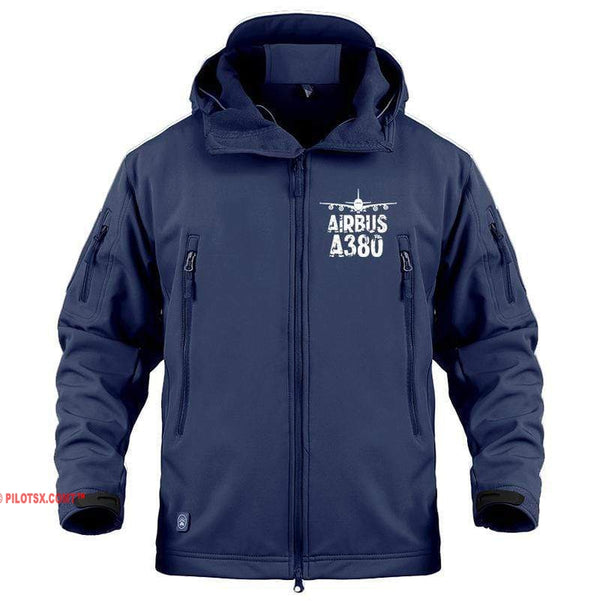 AIRPLANE LOVER Military Fleece Navy / S New Airbus-A380