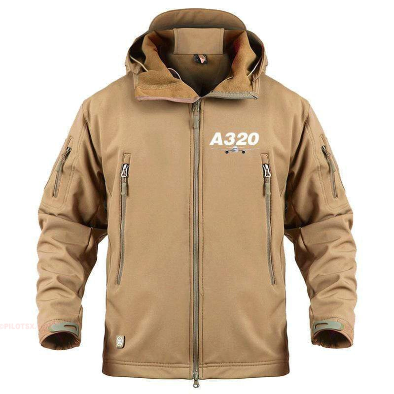 AIRPLANE LOVER Military Fleece Sand / S Airbus A320
