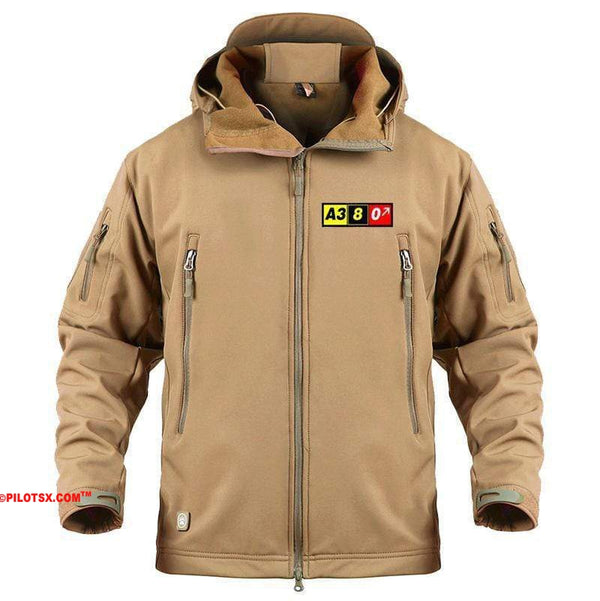AIRPLANE LOVER Military Fleece Khaki / S Airbus A380