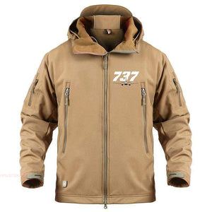 AIRPLANE LOVER Military Fleece Sand / S Boeing 737