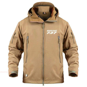AIRPLANE LOVER Military Fleece Sand / S Boeing 737 Jacket