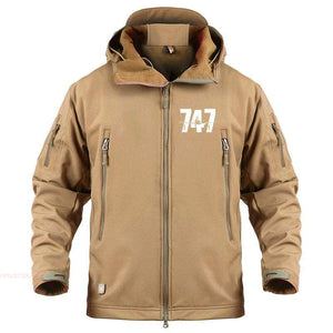 AIRPLANE LOVER Military Fleece Sand / S Boeing 747 Jacket
