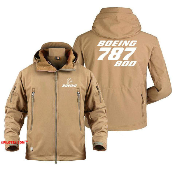 AIRPLANE LOVER Military Fleece Army Green / S Boeing 787-800