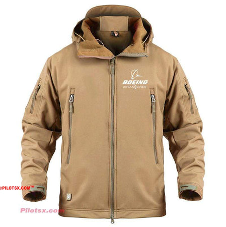 AIRPLANE LOVER Military Fleece Khaki / S Boeing 787 Dreamliner