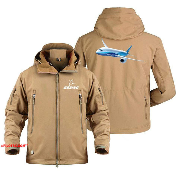 AIRPLANE LOVER Military Fleece Army Green / S Boeing 787 Flying