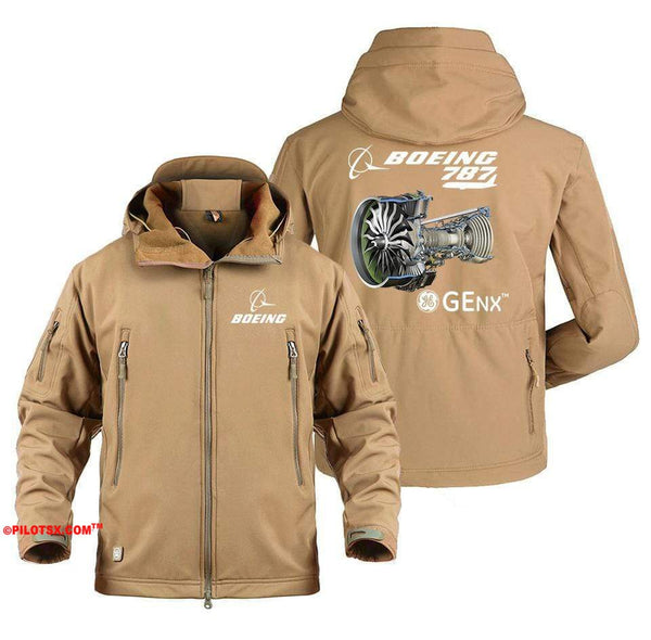 AIRPLANE LOVER Military Fleece Army Green / S Boeing 787 GENX