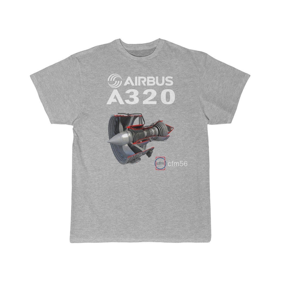 Airplane T-Shirt Athletic Heather / S AIRBUS A320 T-shirts