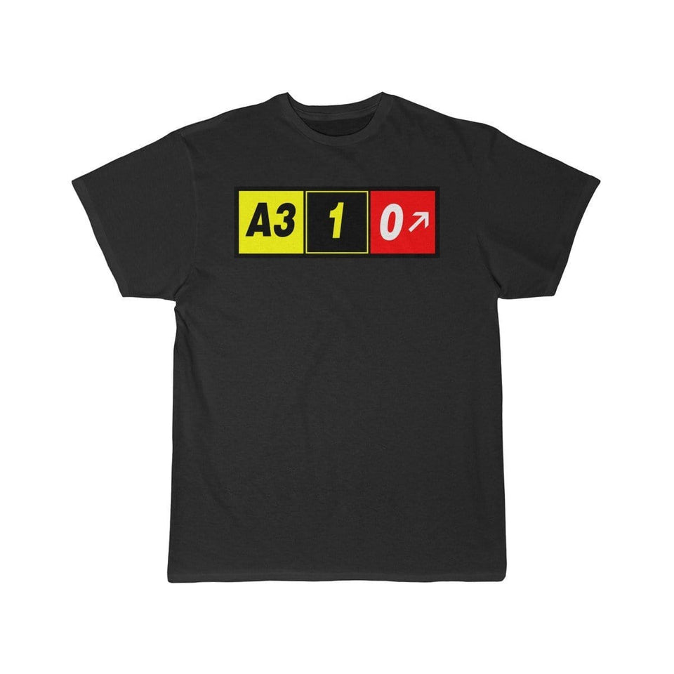 Airplane T-Shirt Black / L Airbus A310 T-shirts