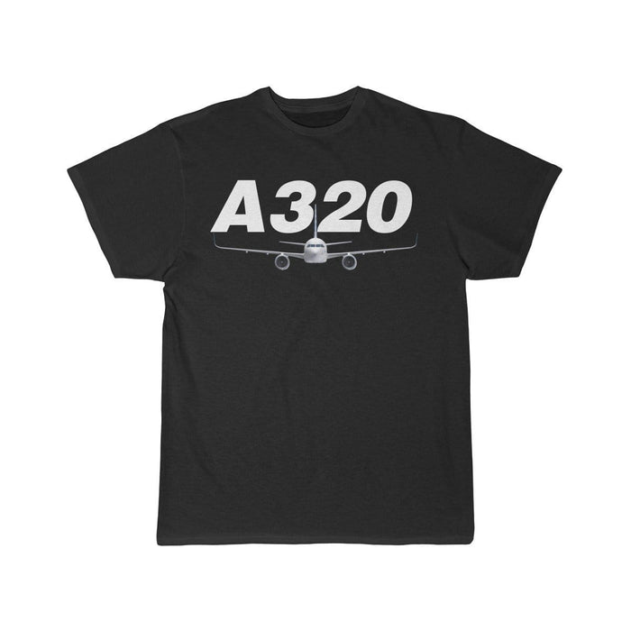Airplane T-Shirt Black / S Airbus A320 T-shirts