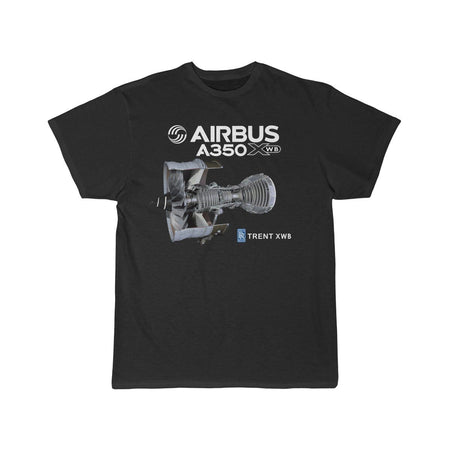 Airplane T-Shirt Black / S AIRBUS A350 T-shirts