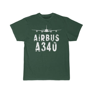 Airplane T-Shirt Forest / L Airbus A 340 T-shirts