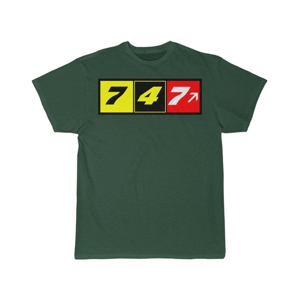 Airplane T-Shirt Forest / S 747