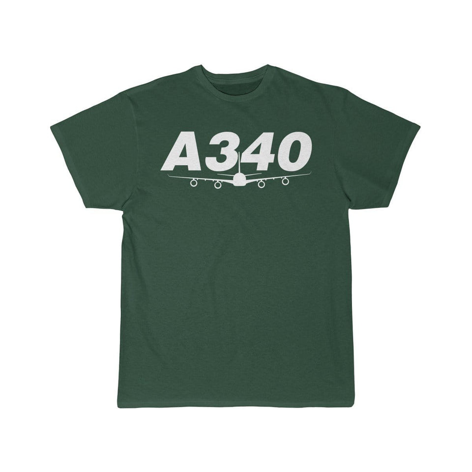 Airplane T-Shirt Forest / S Airbus A340 T-shirts