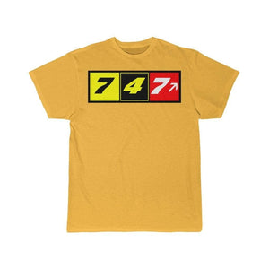 Airplane T-Shirt Gold / S 747