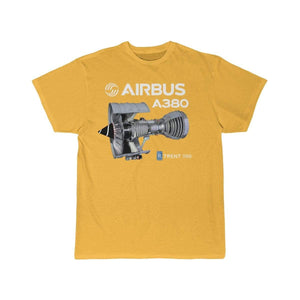 Airplane T-Shirt Gold / S Airbus A 380 T-shirts