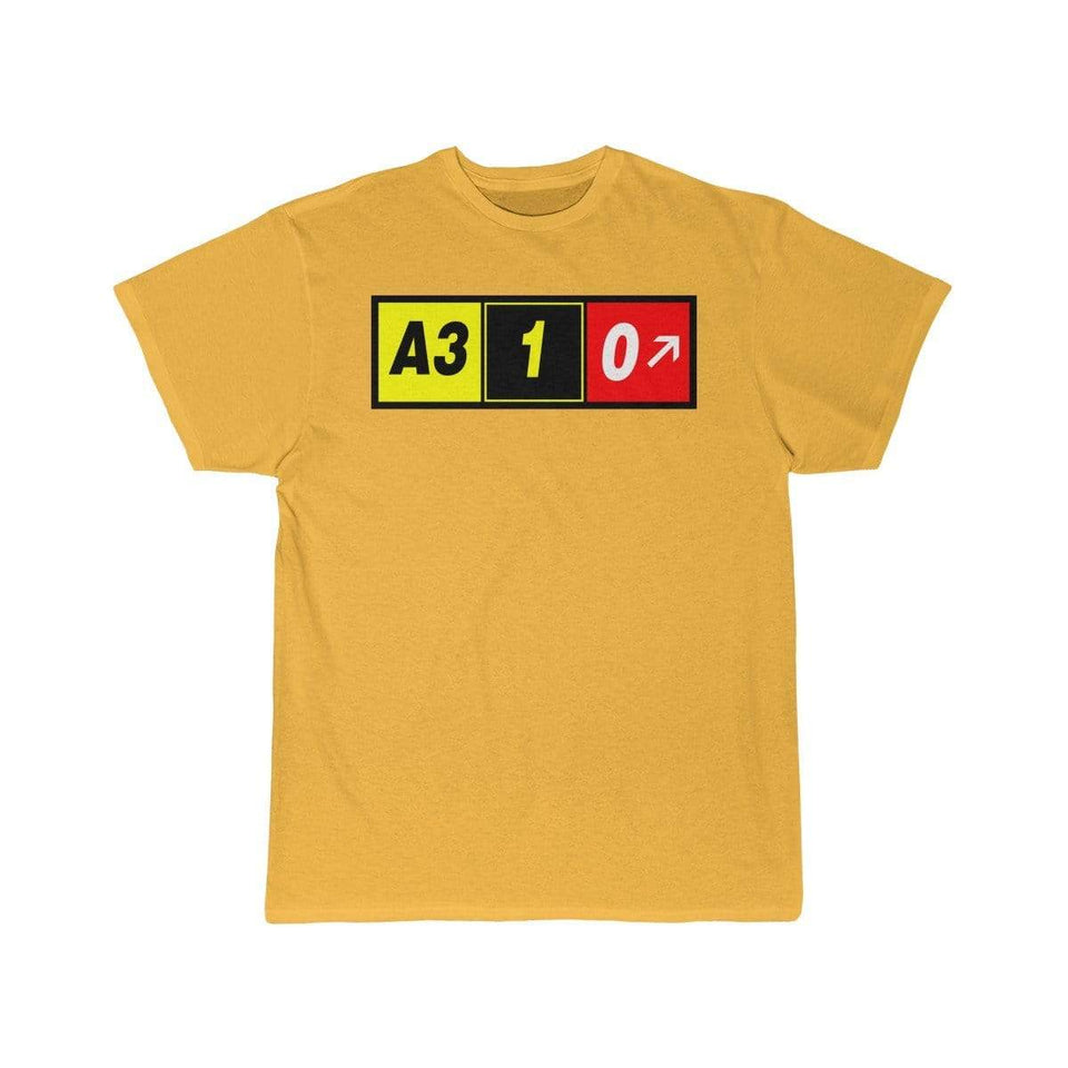 Airplane T-Shirt Gold / S Airbus A310 T-shirts