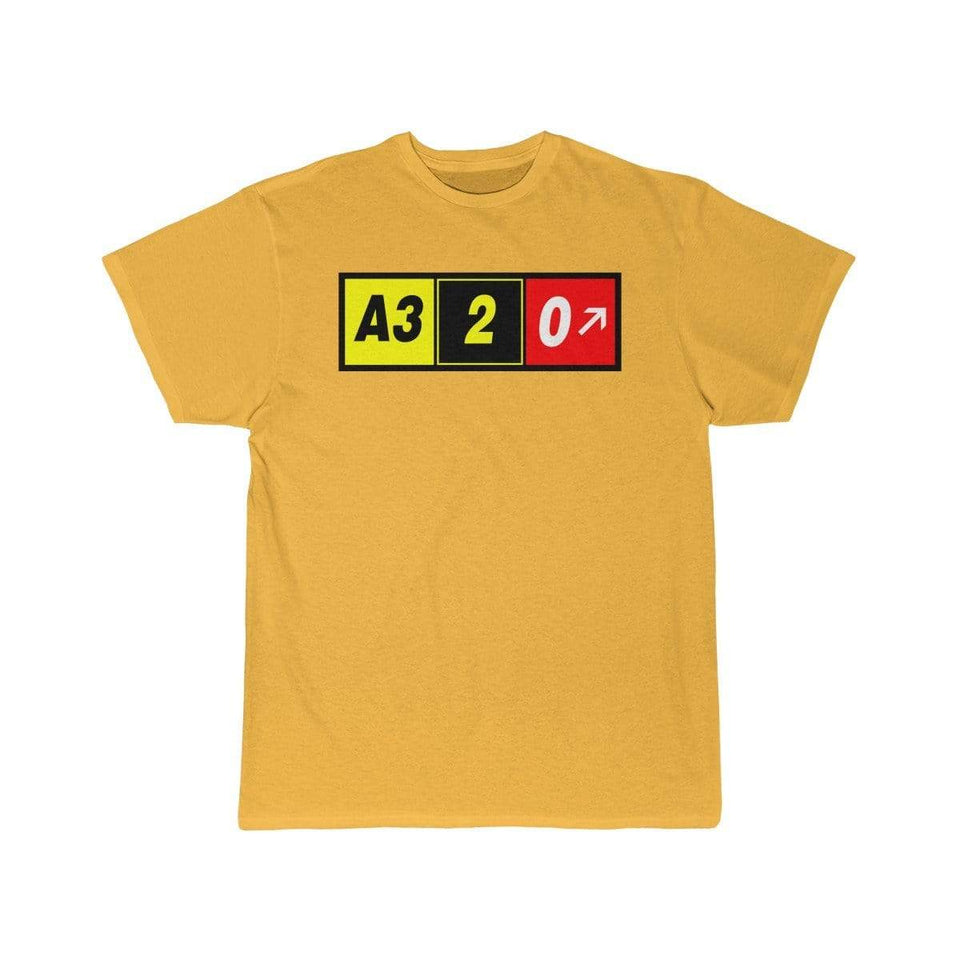 Airplane T-Shirt Gold / S Airbus A320 T-shirts