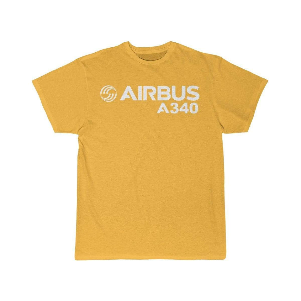 Airplane T-Shirt Gold / S Airbus A340 T-shirts