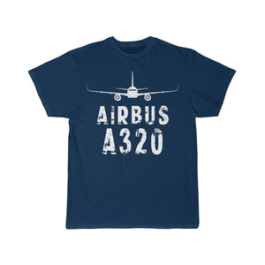 Airplane T-Shirt Navy / S Airbus A 320 T-shirts