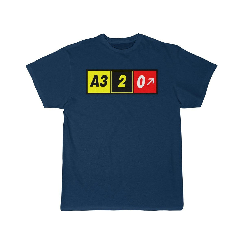 Airplane T-Shirt Navy / S Airbus A320 T-shirts