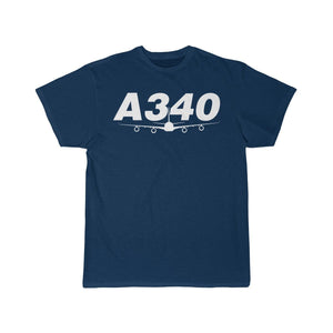 Airplane T-Shirt Navy / S Airbus A340 T-shirts