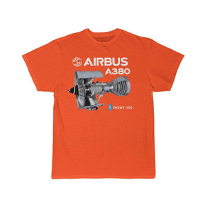 Airplane T-Shirt Orange / S Airbus A 380 T-shirts
