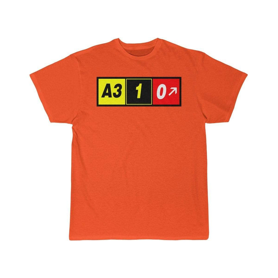 Airplane T-Shirt Orange / S Airbus A310 T-shirts