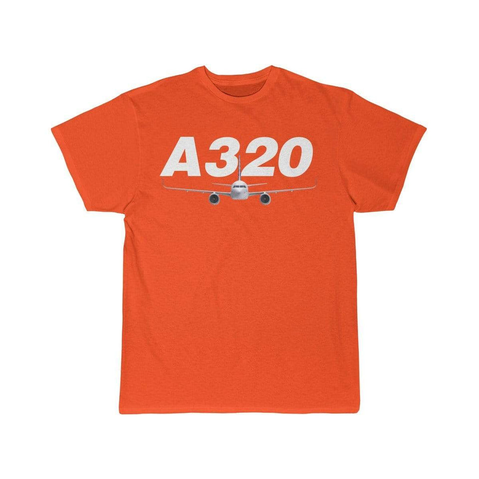 Airplane T-Shirt Orange / S Airbus A320 T-shirts