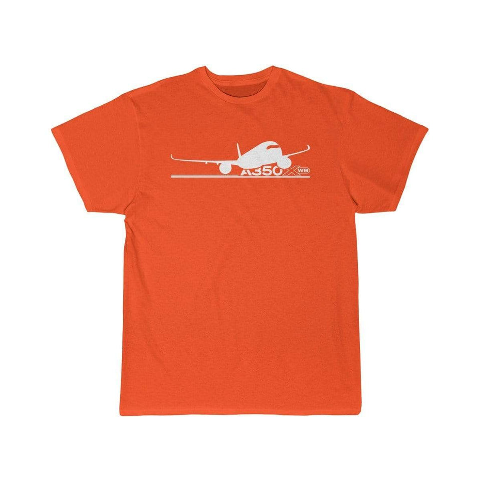 Airplane T-Shirt Orange / S Airbus A350 T-shirts