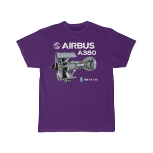 Airplane T-Shirt Purple / S Airbus A 380 T-shirts