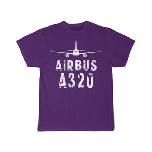 Airplane T-Shirt Purple / S Airbus A320 T-shirts
