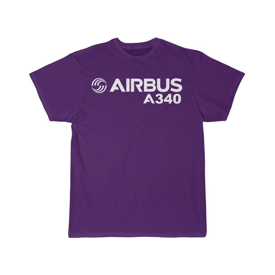 Airplane T-Shirt Purple / S Airbus A340 T-shirts