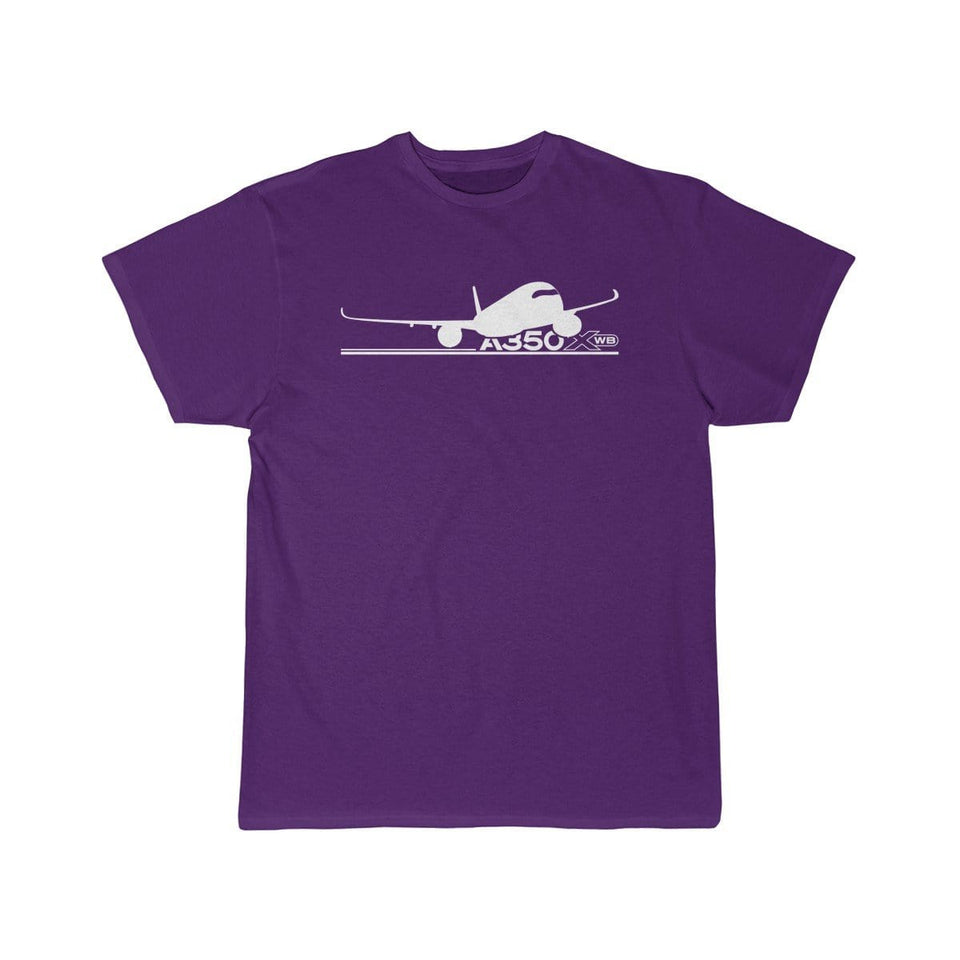 Airplane T-Shirt Purple / S Airbus A350 T-shirts