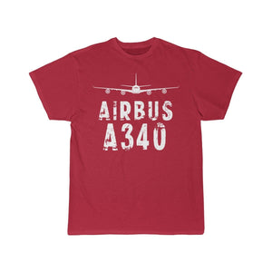 Airplane T-Shirt Red / S Airbus A 340 T-shirts