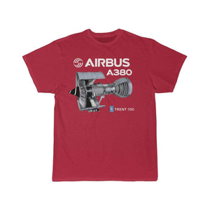 Airplane T-Shirt Red / S Airbus A 380 T-shirts