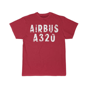 Airplane T-Shirt Red / S Airbus A320 T-shirts