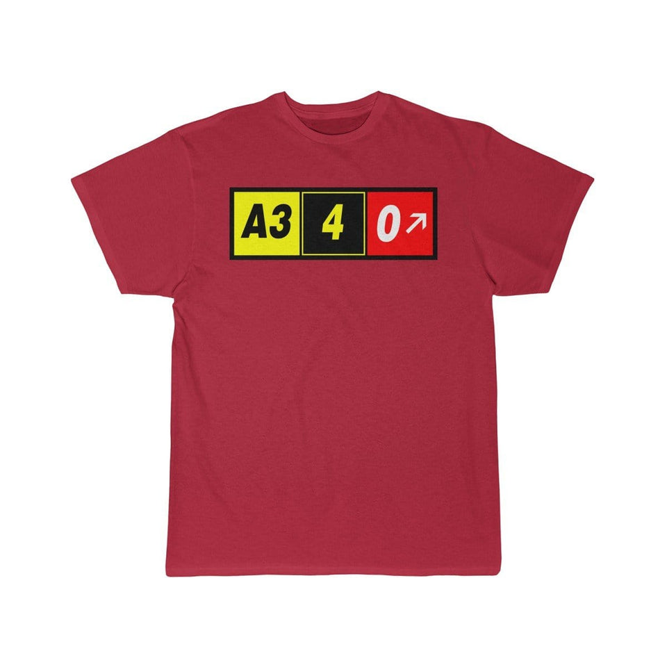 Airplane T-Shirt Red / S Airbus A340 T-shirts